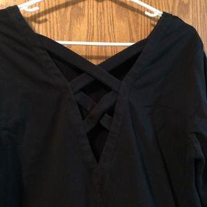 Old Navy Tops - Old Navy Active Lattice-Back Black Sweatshirt